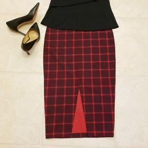 5 for $30! Old Navy Windowpane Plaid Midi Skirt